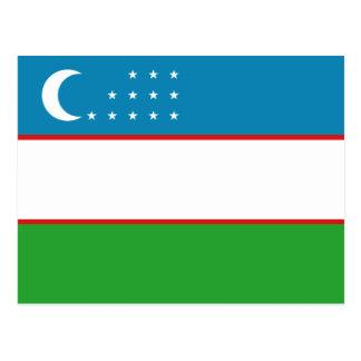 Postal de la bandera de Uzbekistán