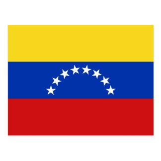 Postal de la bandera de Venezuela