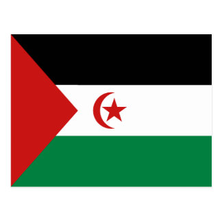 Postal de la bandera de Western Sahara