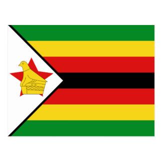 Postal de la bandera de Zimbabwe