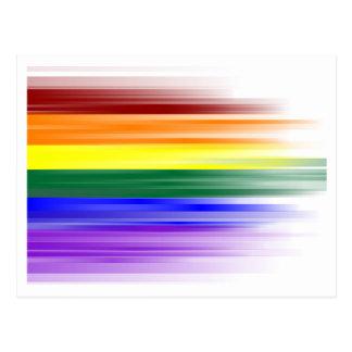 Postal de la bandera del arco iris