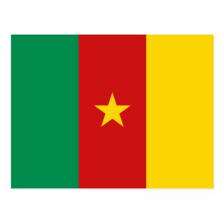 Postal de la bandera del Camerún
