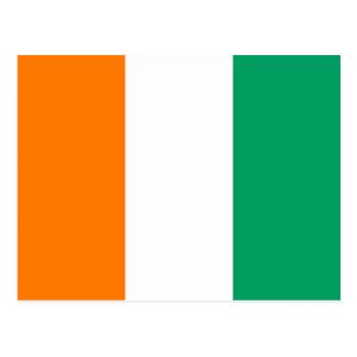 Postal de la bandera del d Ivoire de Cote