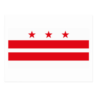 Postal de la bandera del distrito de Columbia
