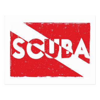 Postal de la bandera del equipo de submarinismo