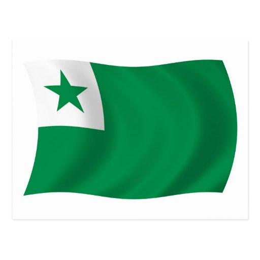 Postal de la bandera del esperanto