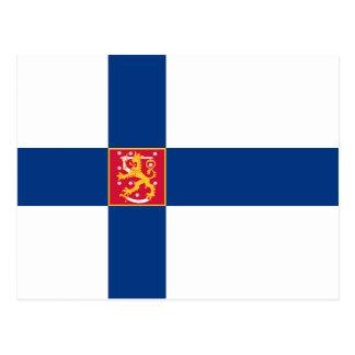 Postal de la bandera del estado de Finlandia