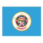 Postal de la bandera del estado de Minnesota