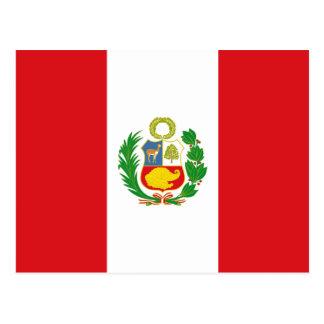 Postal de la bandera del estado de Perú