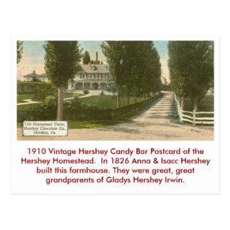 Postal de la barra de caramelo de Hershey