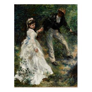Postal de la bella arte de la pintura de Renoir de