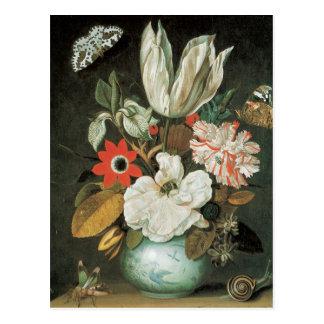 Postal de la bella arte del arreglo floral del