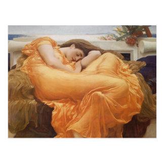 Postal de la bella durmiente