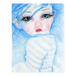 postal de la belleza de los copos de nieve
