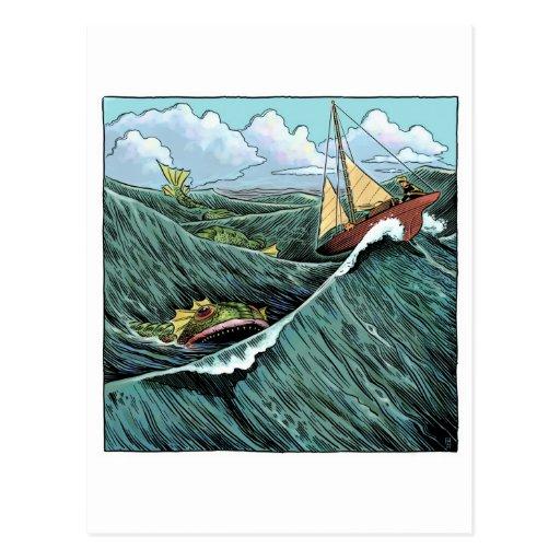 Postal de la bestia del mar