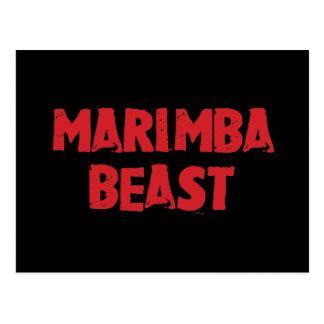 Postal de la bestia del Marimba