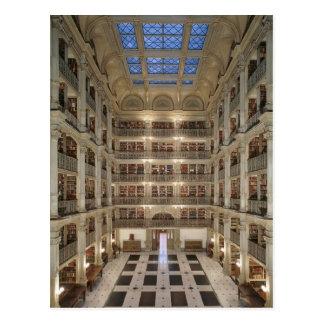 Postal de la biblioteca de George Peabody