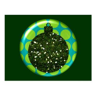 Postal de la bola del ornamento del navidad