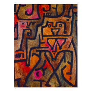 Postal de la bruja del bosque de Paul Klee