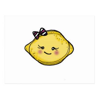 Postal de la cabeza del limón de Vol25 Rosey Cheek