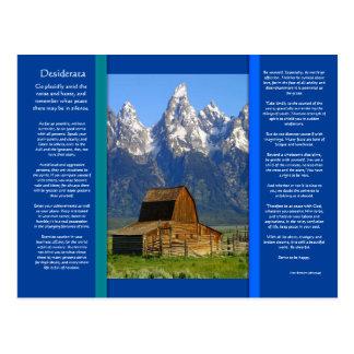 Postal de la cabina de la montaña de los