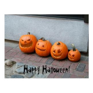 Postal de la calabaza de Halloween