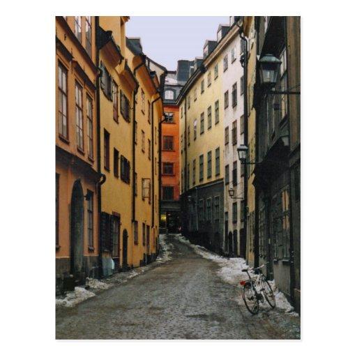 Postal de la calle de Estocolmo