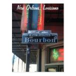 Postal de la calle de New Orleans Luisiana Borbón
