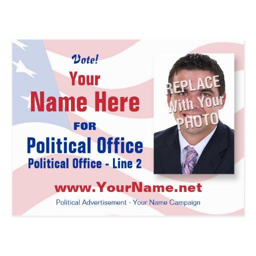 Postal de la campaña electoral de - independiente