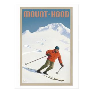 Postal de la capilla del Mt. del esquí del vintage