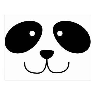 Postal de la cara de la panda