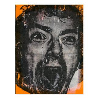 Postal de la cara del grito