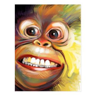 Postal de la cara del mono