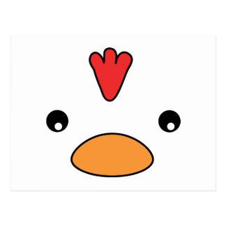Postal de la cara del pollo