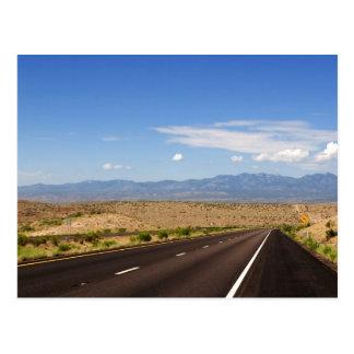Postal de la carretera del desierto
