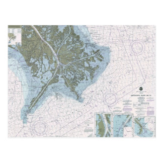 Postal de la carta del ms del LA del delta del río