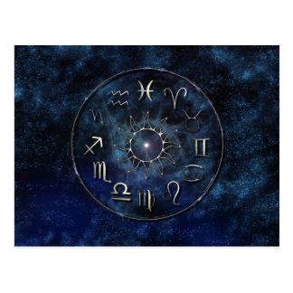 Postal de la carta del zodiaco