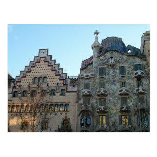 Postal de la Casa Batlló de Antoni Gaudí