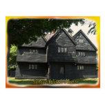 Postal de la casa de la bruja de Salem
