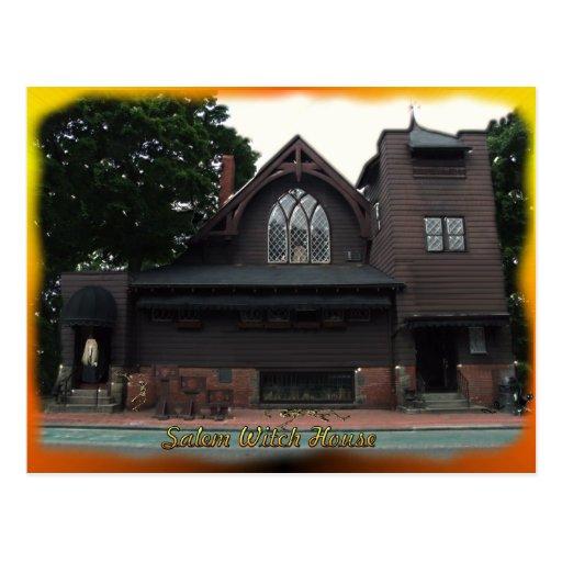 Postal de la casa de las brujas de Salem