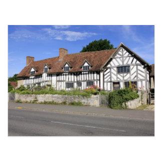 Postal de la casa de Tudor de Maria Arden
