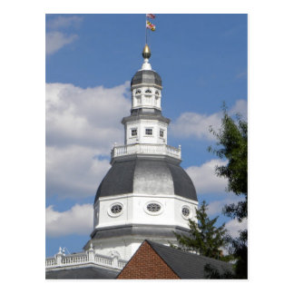 Postal de la casa del estado de Maryland