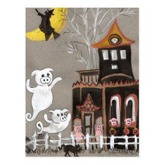 Postal de la casa encantada de los fantasmas del c