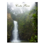 Postal de la cascada de Costa Rica