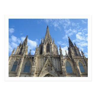 Postal de la catedral de Barcelona