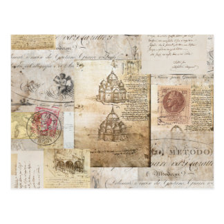Postal de la catedral de Roma del italiano del