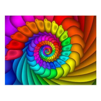 Postal de la celebración del arco iris