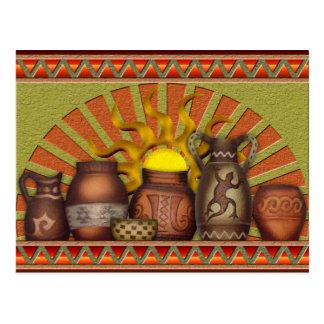Postal de la cerámica del sudoeste