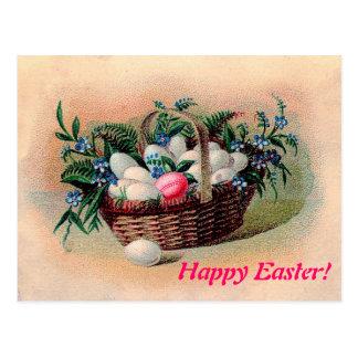 Postal de la cesta de Pascua