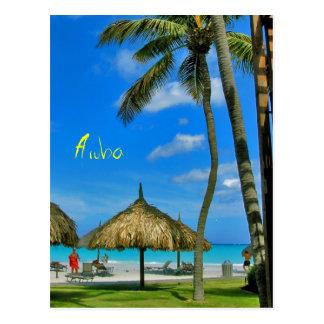 Postal de la choza de Aruba Tiki